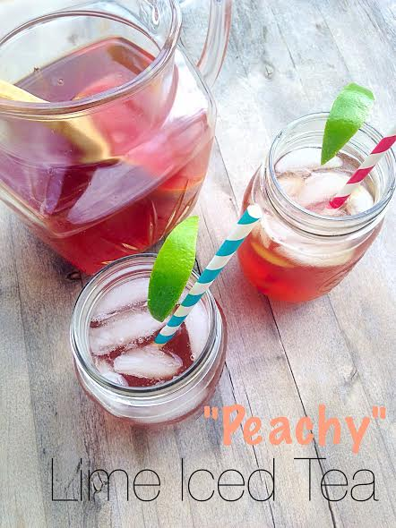 Peachy Lime Iced Tea 1