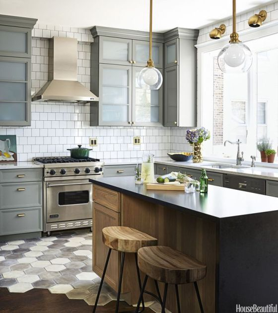 Gray-White-Wood-and-Brass-Kitchen