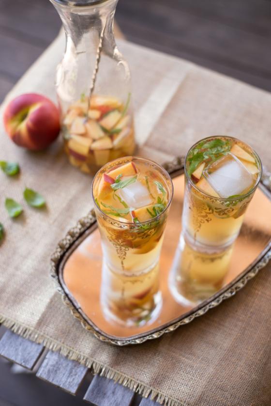 Peach Basil Sangria