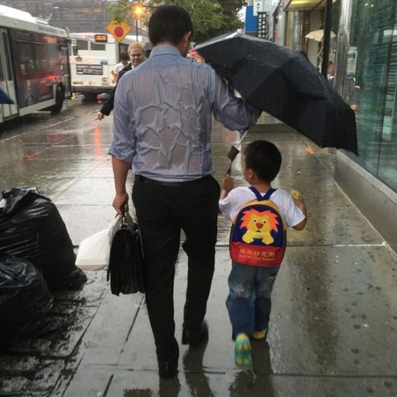 Umbrella Dad